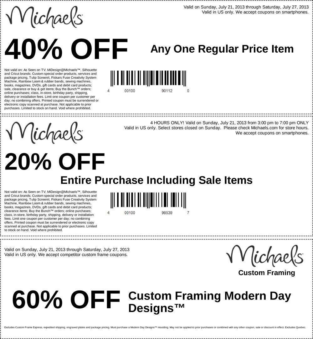 Pinned July 22nd 40 Off A Single Item And More At Michaels Coupon Via The Coupons App Michaels Coupon Coupons Free Printable Coupons