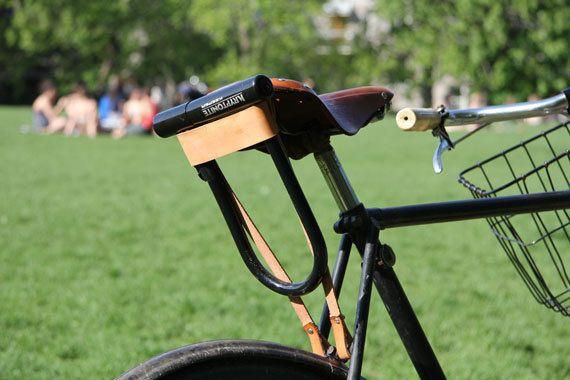 Bicycle U Lock Holster Leather Comfort Bike Hybrid Bicycle
