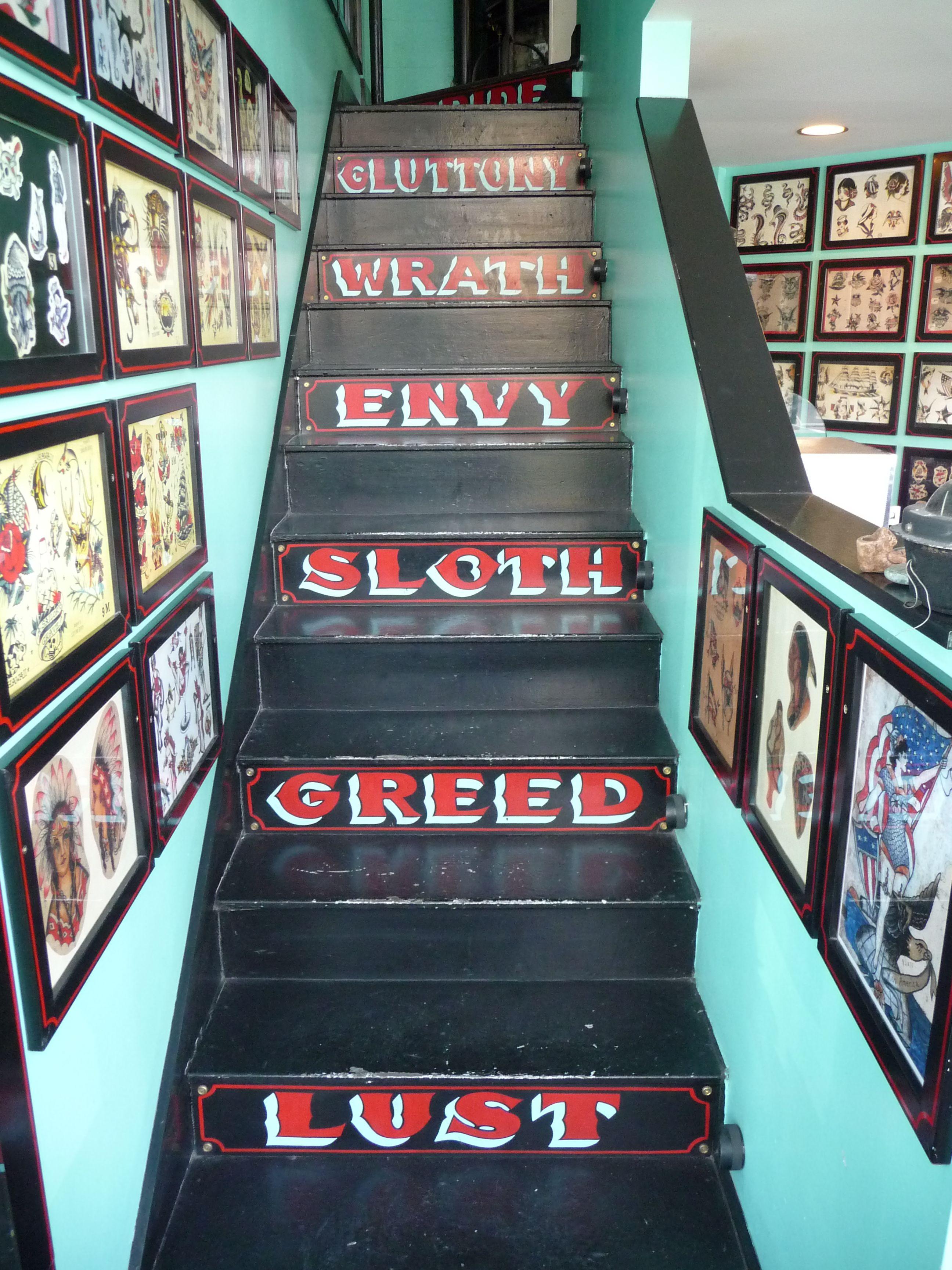 Anchor Tattoo Ballard Seattle Washington state, Stairs