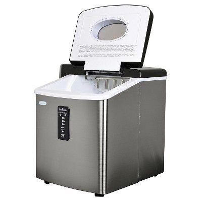 Newair 28 Lbs Ice Maker Stainless Steel Silver Portable Ice