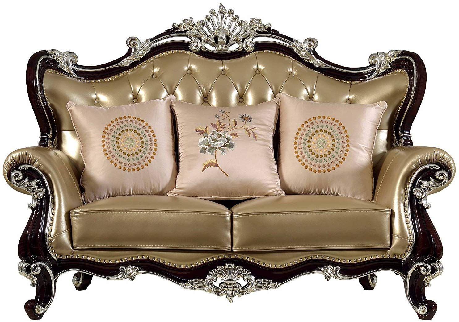 Amazon Com Ma Xiaoying Leather Sofas Antique Furniture Solid Wood Frame Carved Living Room Furniture Sofas Furniture Design Traditional Living Room Furniture