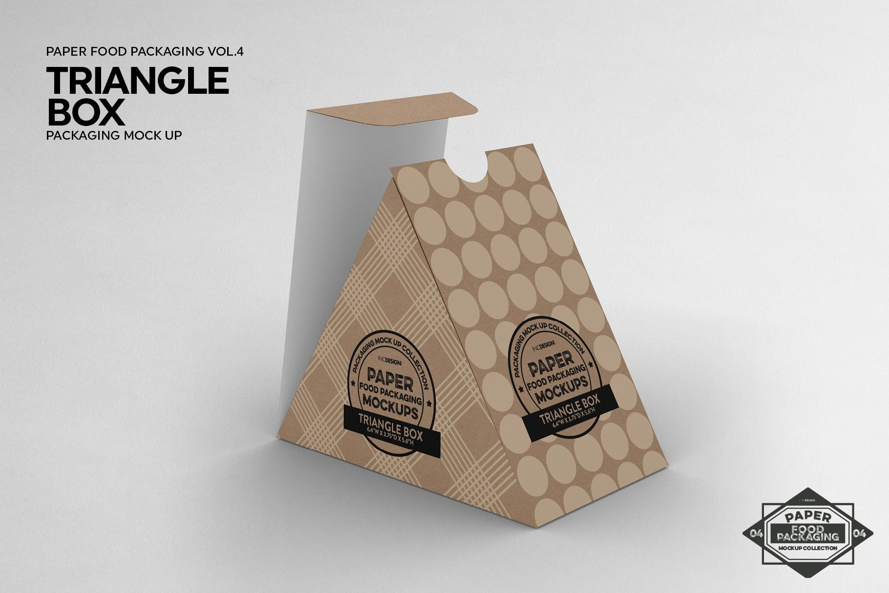 Download Triangle Food Box Packaging Mockup Packaging Mockup Food Box Packaging Box Packaging