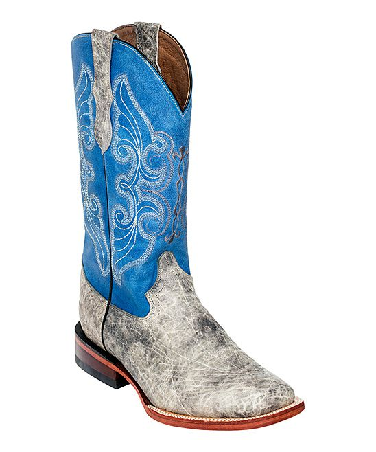 78b9aa0a73a Gray Elephant Print Leather Cowboy Boot - Women | Products | Cowboy ...