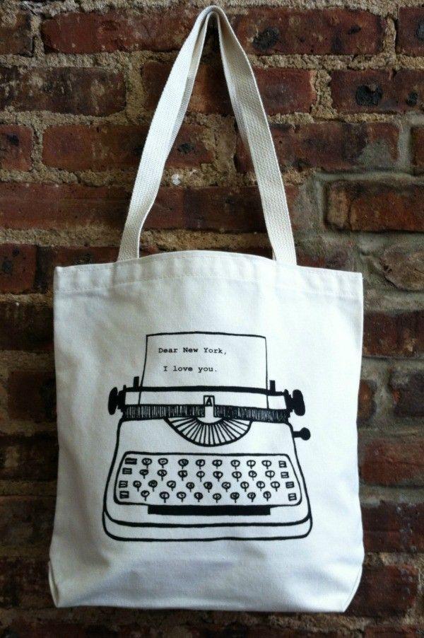 Tote bag Love in New York Vert 8SZN2