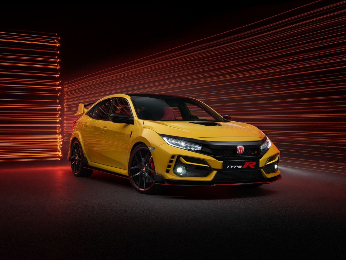 2021 Honda Civic Type R Wallpaper Honda Civic Honda Sarı