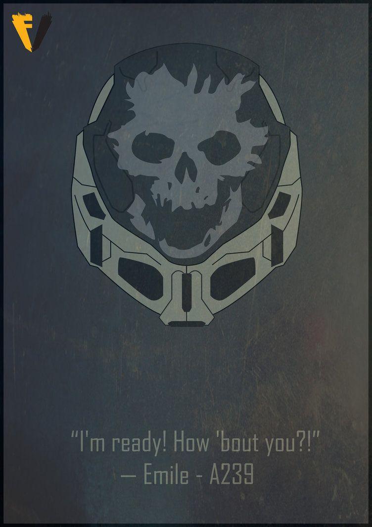 Halo Reach Emile Helmet Poster by FALLENV3GAS | Birthday Ideas