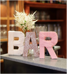 Create an amazing DIY sign to give your bar some extra flair. On our blog today... www.breatheevents.com.au