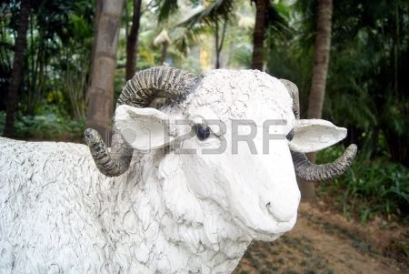 Sculpture Of A Sheep Stock Photo, Picture And Royalty Free Image ...