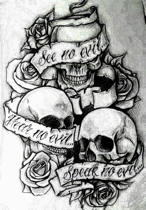 Pin By Kieran Coker On Artsy Evil Tattoos Evil Tattoo Evil Skull Tattoo