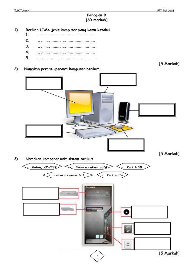 Tmk Tahun 4 Ppt Mei 2015 Bahagian B 60 Markah 1 Berikan Lima Jenis Komputer Yang Kamu Ketahui 1 Floor Plans
