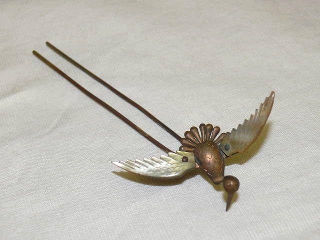 Vintage Japanese Hair Ornament Kanzashi Japanese Crane