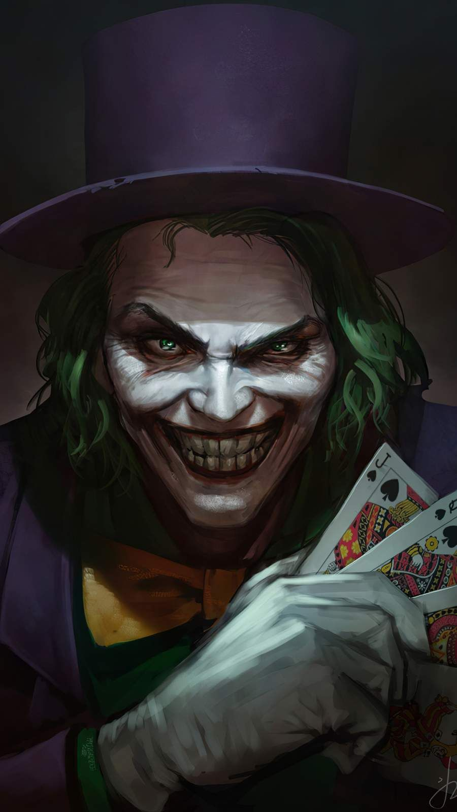 Joker With Cards Iphone Wallpaper In 2020 Joker Art Joker
