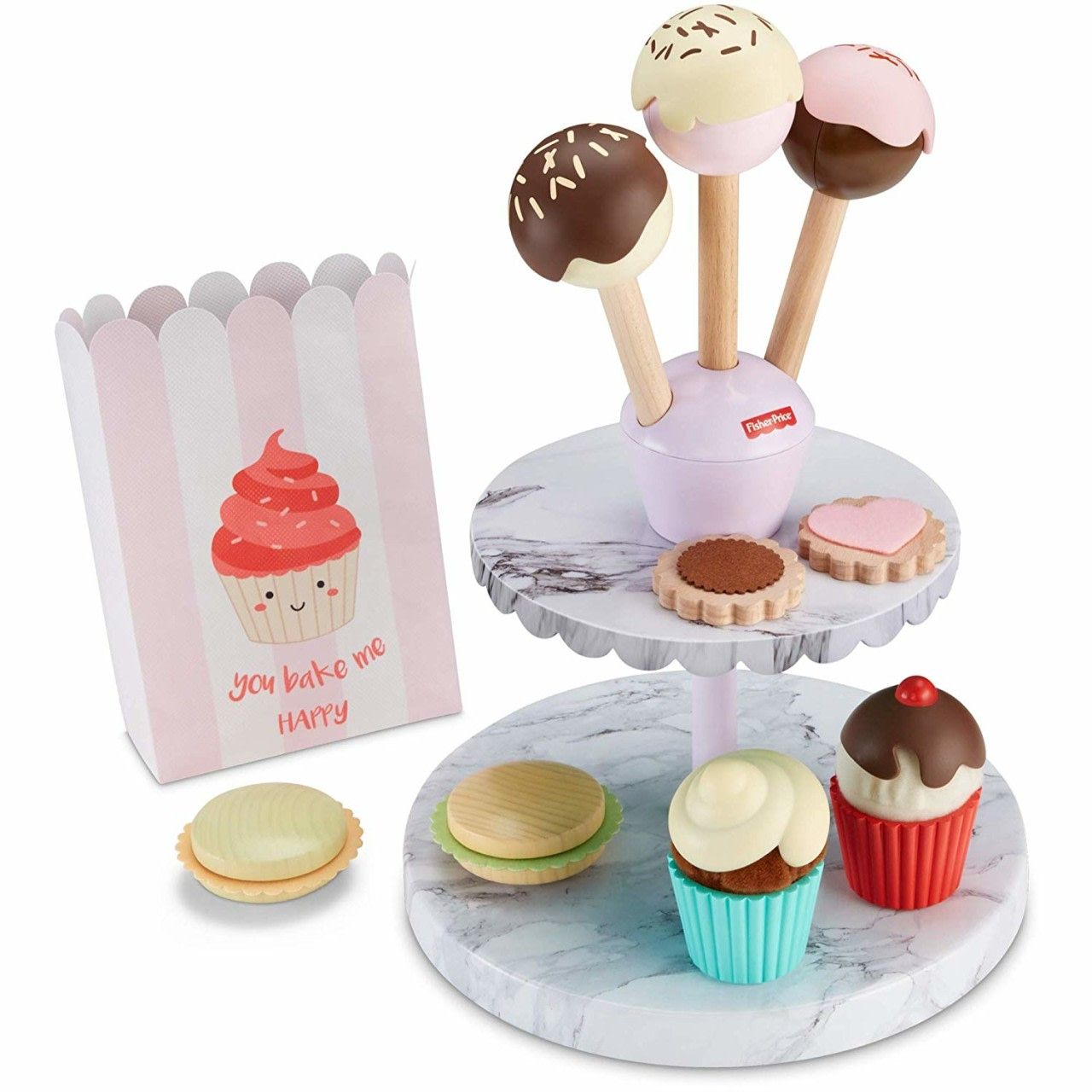 "Cookies Doughnut Cupcake Food Play For 18/"" Dolls Baking Pretend Gift New"