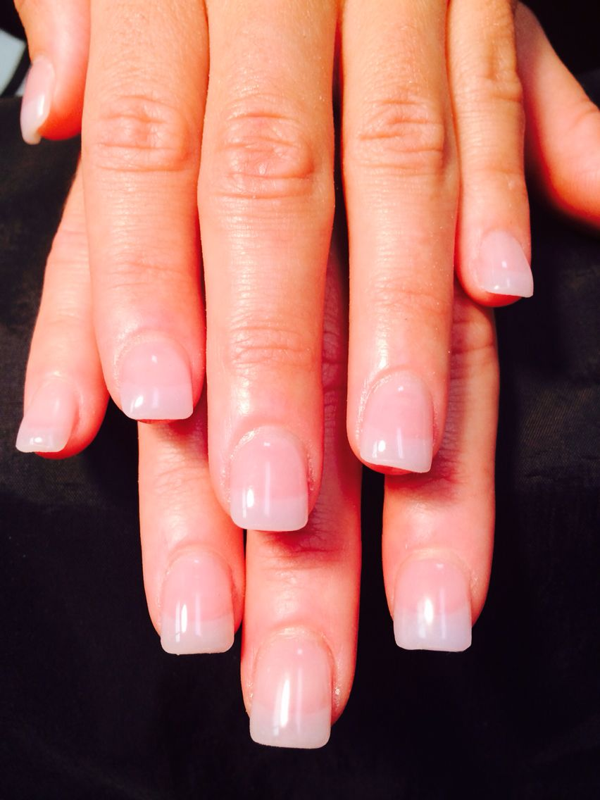 Natural Acrylic Pink & White (American) | Nails By Carla | Pinterest ...