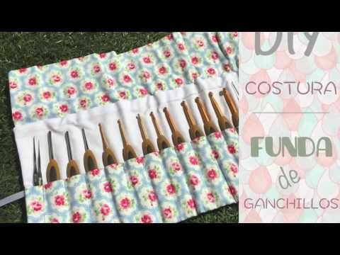 шьем органайзер для вязальных крючков  Funda organizar ganchillos / Porta ganchos / Costura DIY ♥ Laura DIY - YouTube
