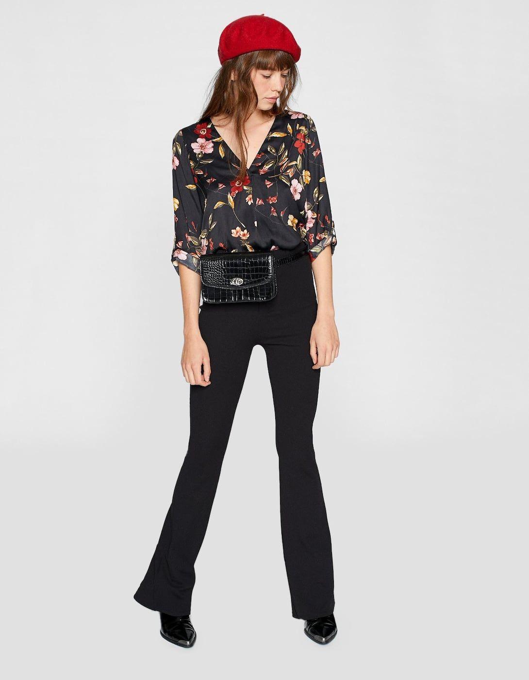 Floral V Neck Shirt Shirts Blouses Stradivarius Romania Fashion Casual Fashion Summer Fashion