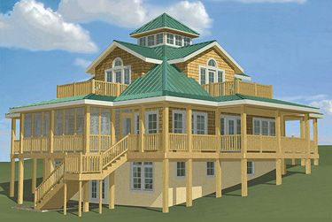 southern style house plans with wrap around porches - Google Search ...