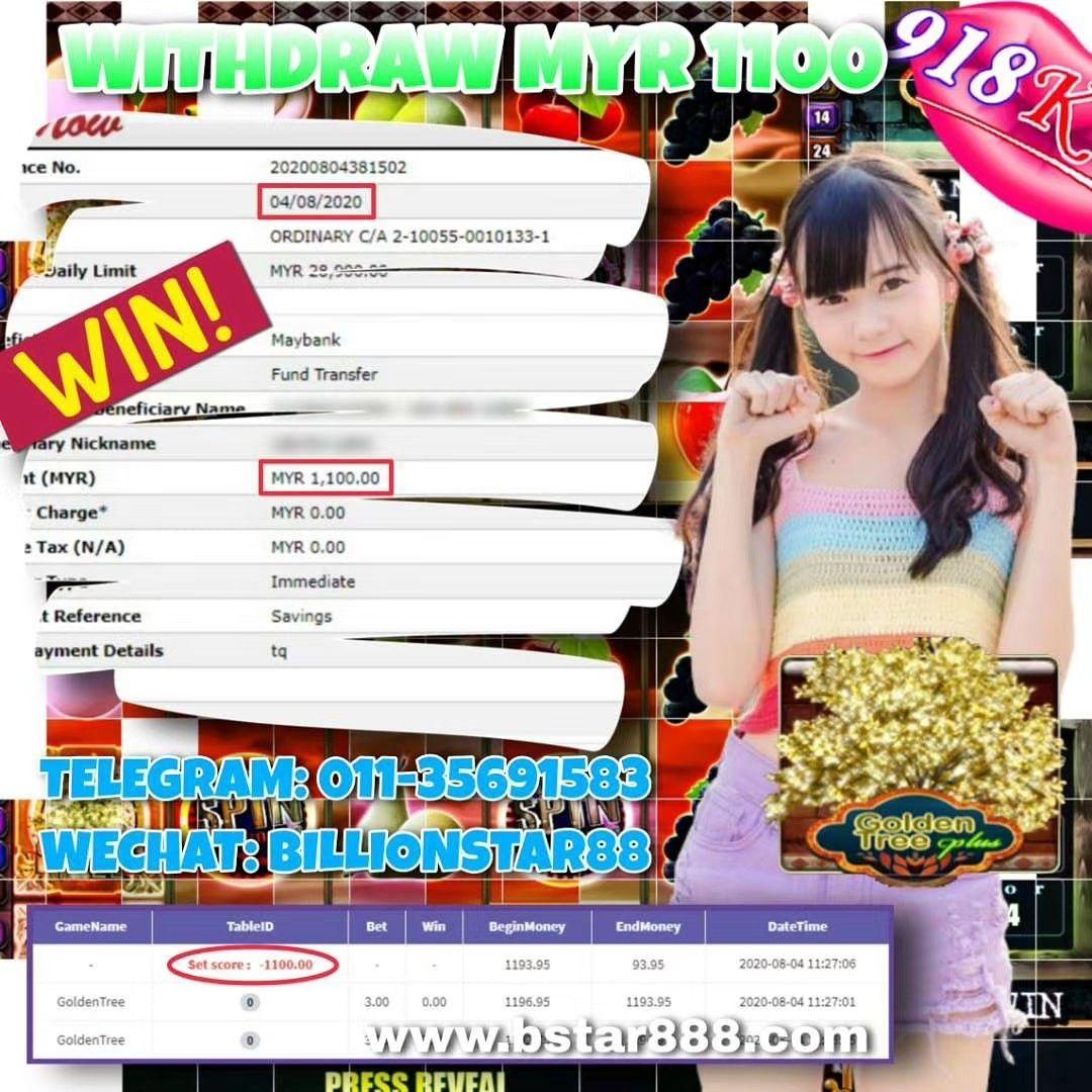 WITHDRAW RM1100 SIGN UP NOW! Welcome Bonus 30% - 50% Telegram: 011-35691583 Wechat: billionstar88…