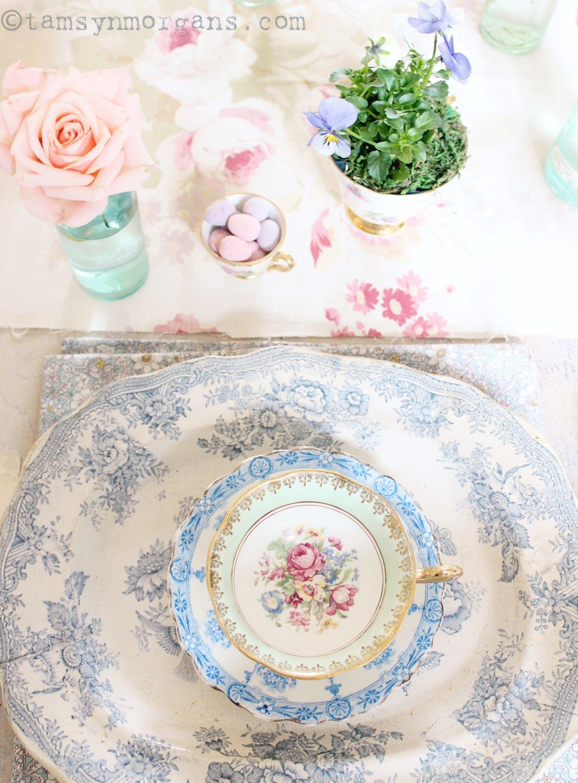 Pretty Easter Table - The Villa on Mount Pleasant