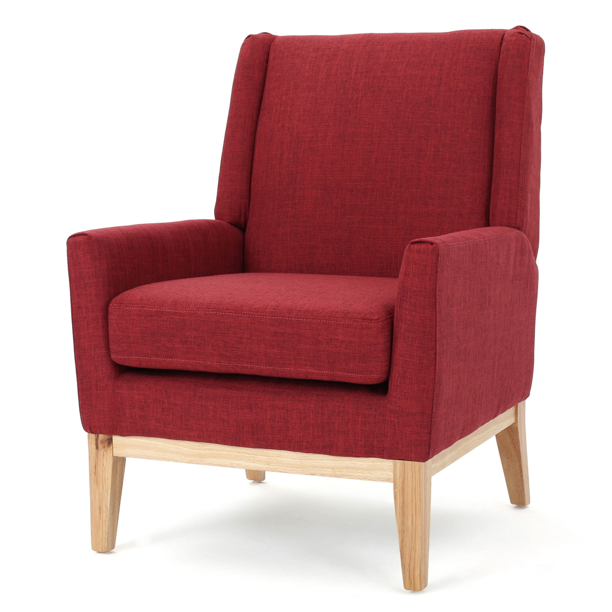 Aurla Accent Chair Red Christopher Knight Home