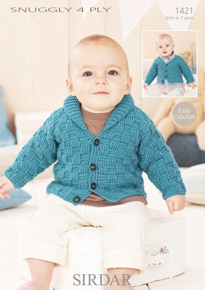 Boys Cardigans In Sirdar Snuggly 4ply Crochet Crafts Crochet