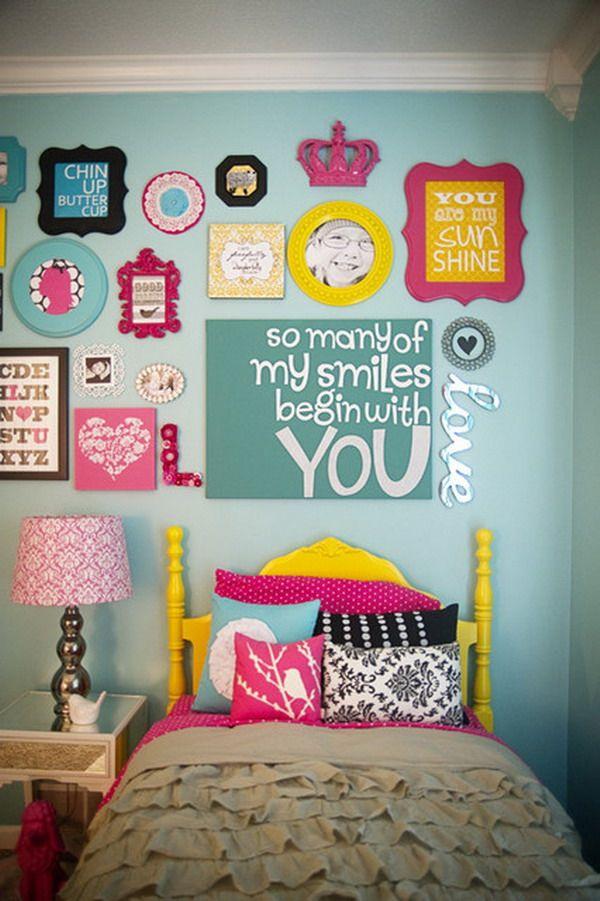 Kids Bedroom with DIY Wall Art Works Great Bedroom Design with Art ...