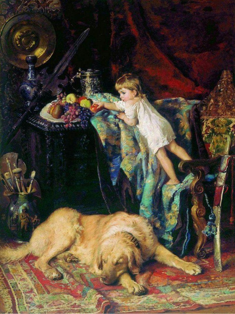 Маковский Константин Егорович В мастерской художника. 1881