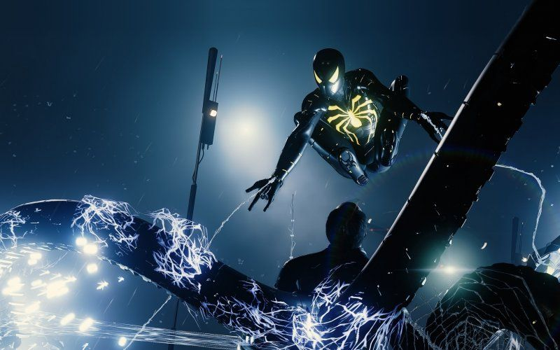 Wallpaper Spider Man Ps4 Pro Video Game Anti Ock Suit Dark