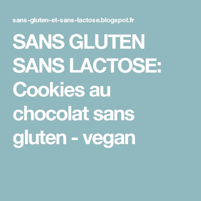 SANS GLUTEN SANS LACTOSE: Cookies au chocolat sans gluten - vegan