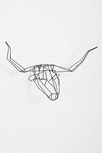 animal head wall sculpture