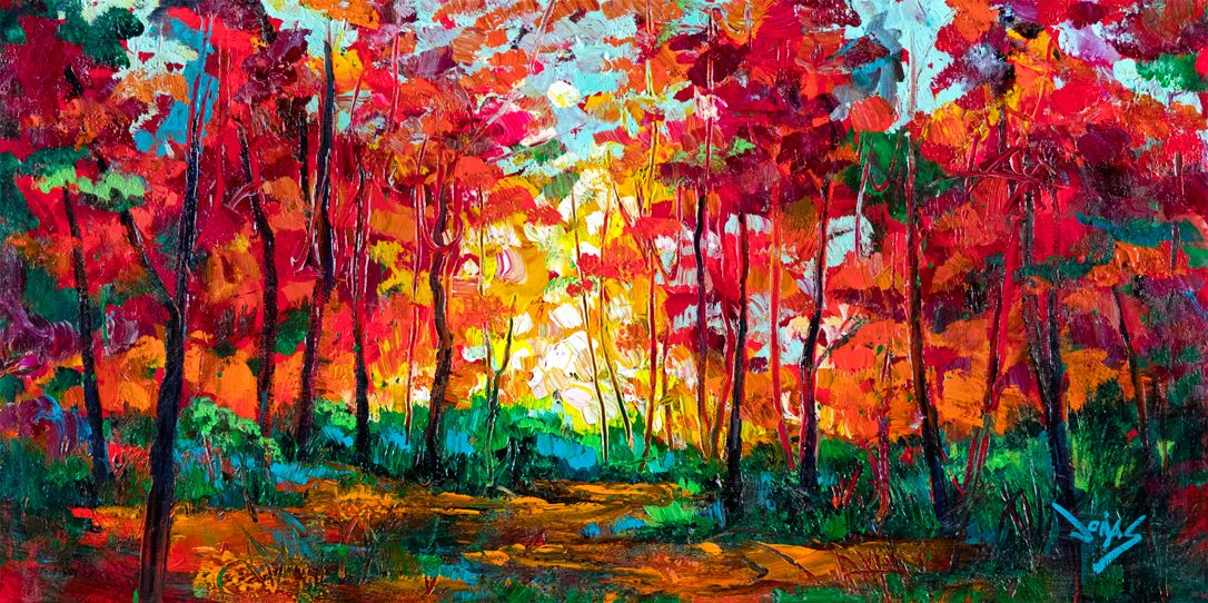 Towards the Light VI, 24x48 inches, acrylic on canvas. Original ...