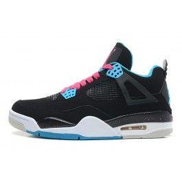 brand new 8dd7a eef87 Beste Nike Air Jordan 4 Unisexschuhe Schwarz Hellblau Rosa Schuhe Online   Kaufen  Jordan Schuhe Online