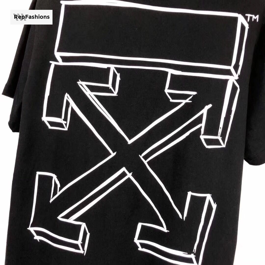 a83c34fdfe5c Best Cheap Rep OFF WHITE Diagonal 3D Marker Line Arrow T Shirt For Sale —  RepFashions