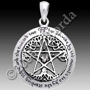 The pentacle is a symbol of earth and prosperity as seen in the sterling silver pentacle pendants jewellery at new moon new age jewelry aloadofball Gallery
