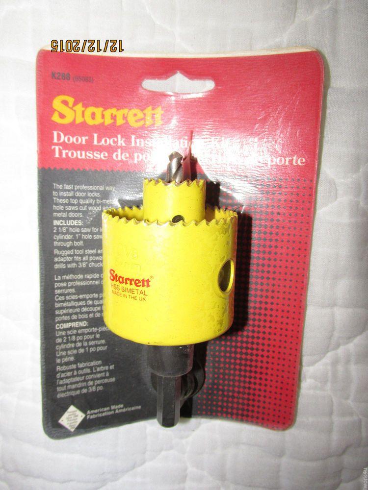 L. S. Starrett No. K288 Door Lock Installation Kit 65083