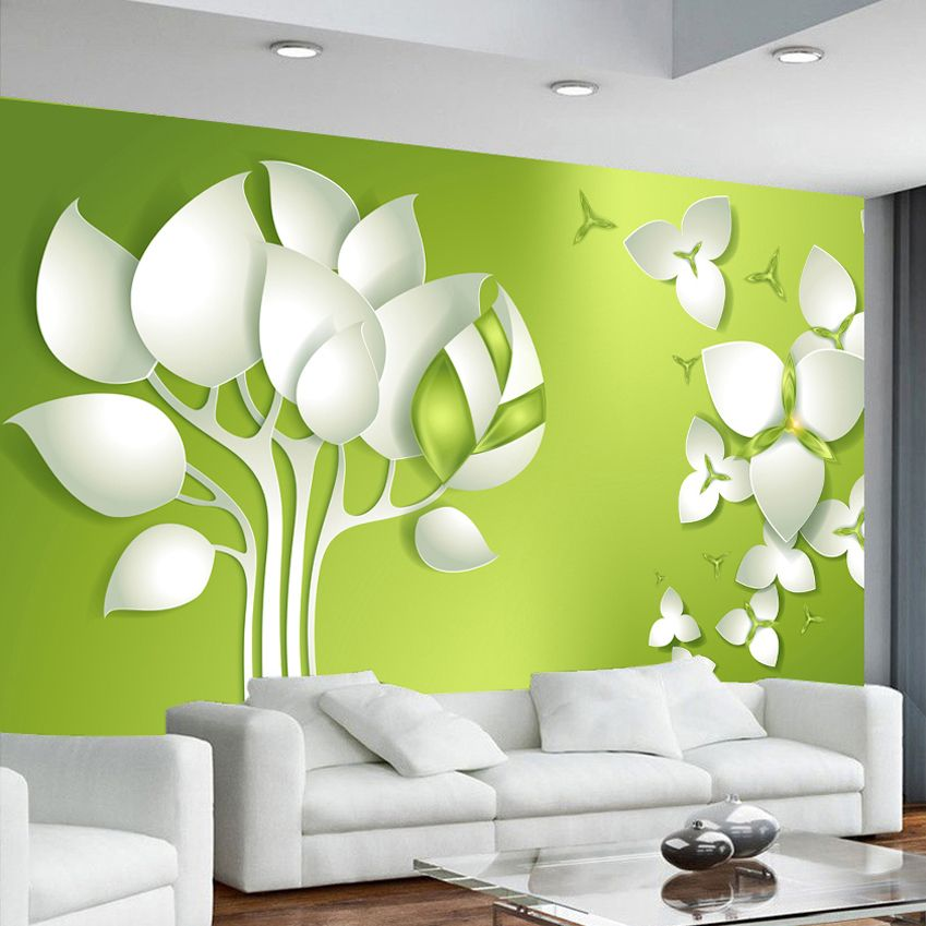 Custom Mural Non woven Wallpaper Modern 3D Abstract