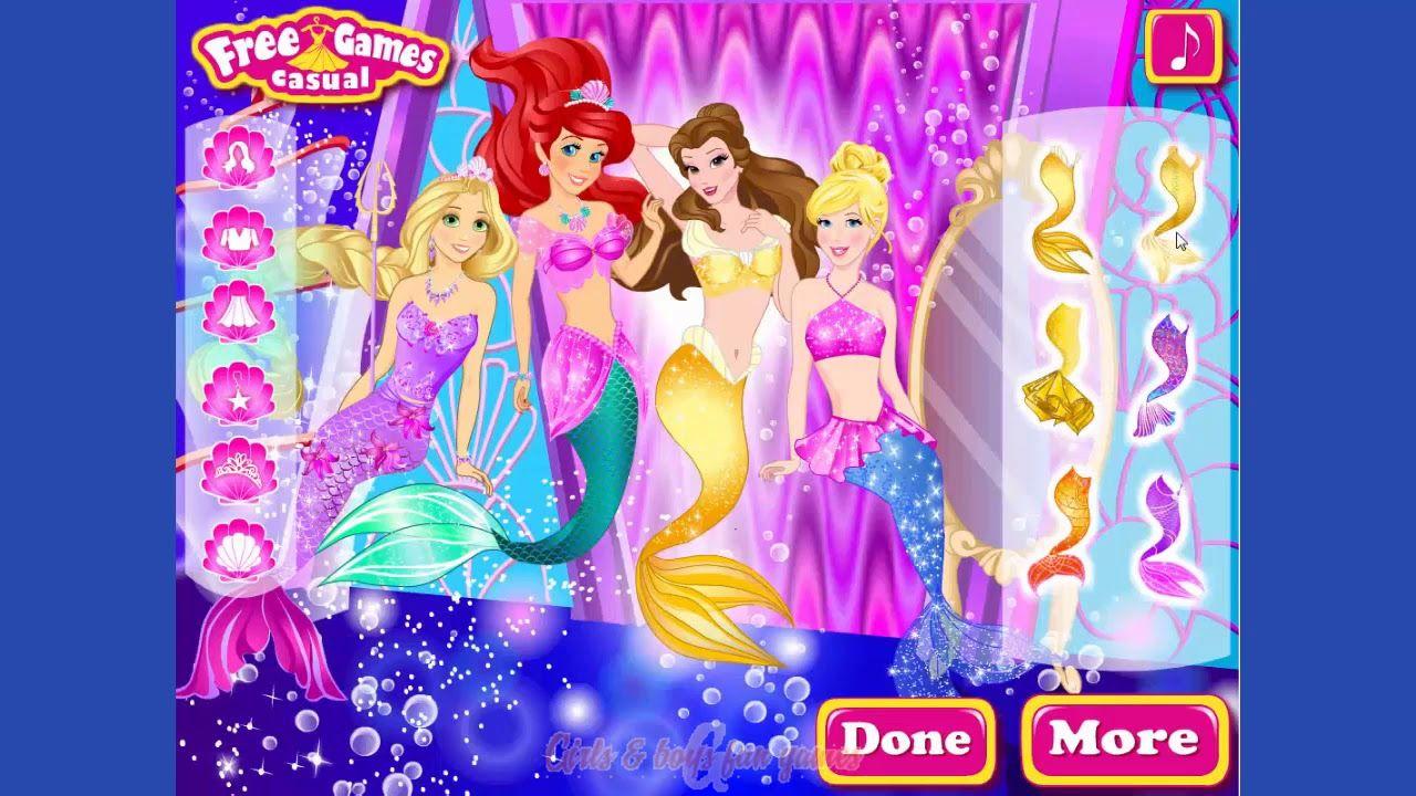 Disney Princess Game - Princess Undersea Party Dress Up Game - Best ...