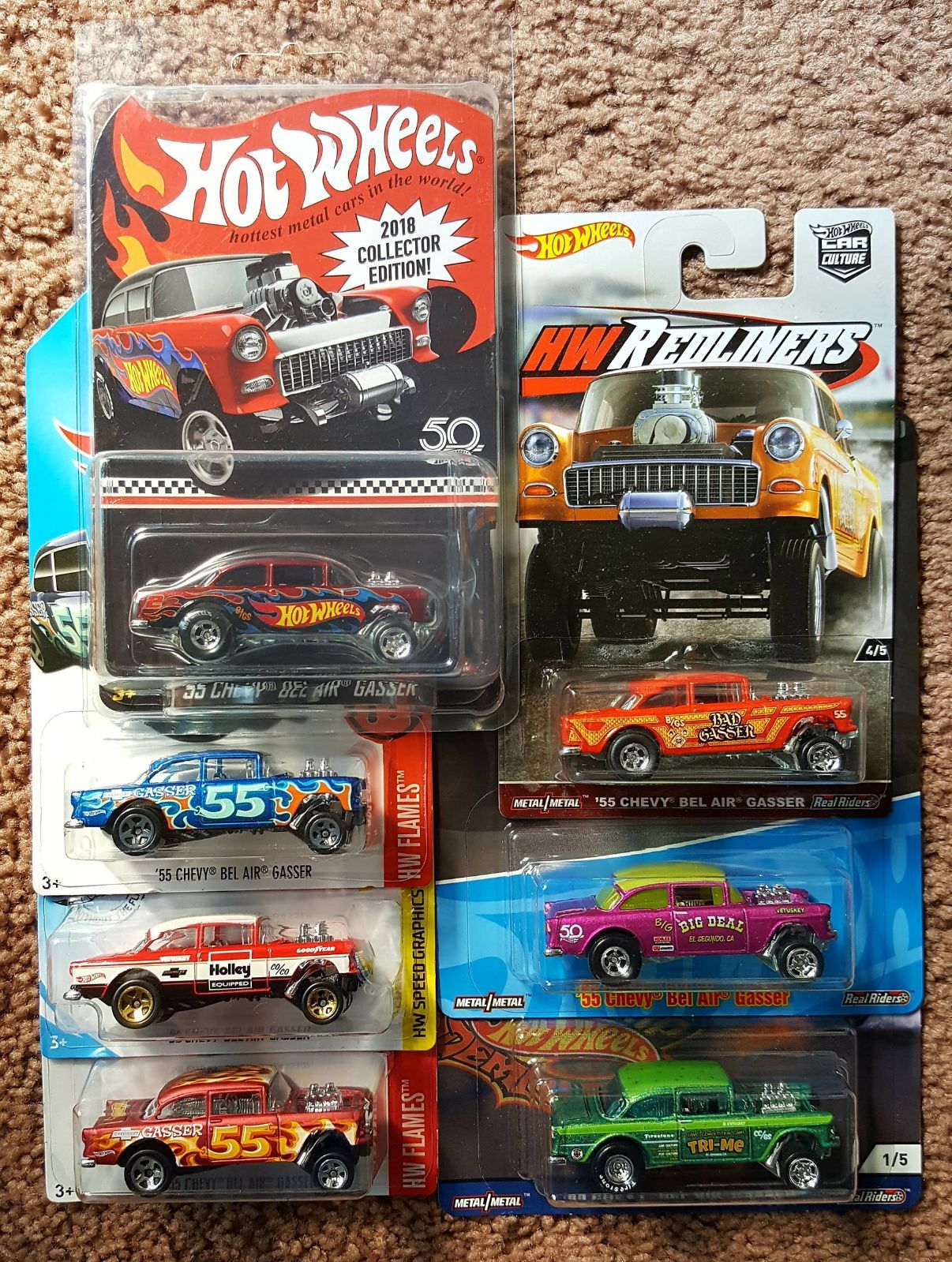 55 Chevy Gasser Lot With Premium Gassers And Rlc Car Hot Wheels Cars Toys Hot Wheels Toys Hot Wheels [ 1599 x 1206 Pixel ]
