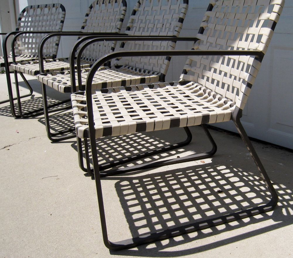 Details About Vintage Brown Jordan Lido Chairs Original Mid Century Modern Patio  Furniture