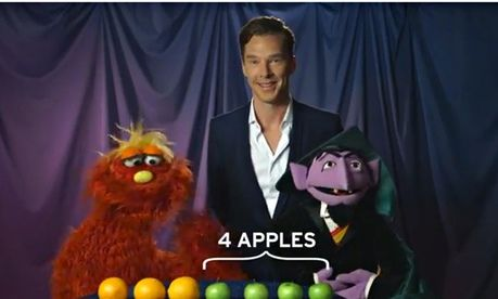 Benedict Cumberbatch detects the way to Sesame Street
