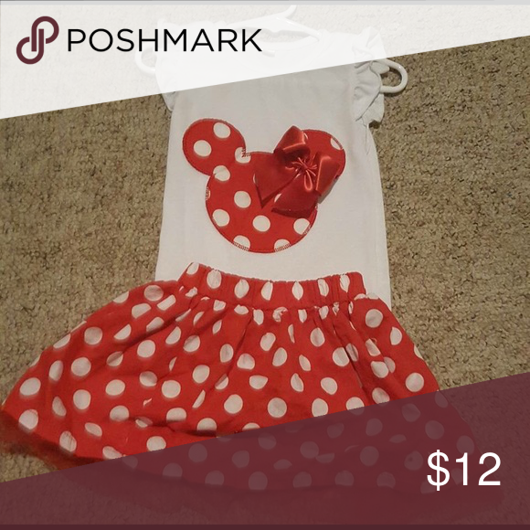 Minnie Mouse set Boutique Minnie Mouse set. Worn once! Matching Sets