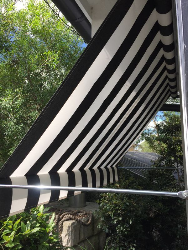 Black & White stripe awning | Outdoor window awnings ...