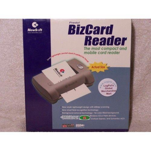For Sale Presto Bizcard Reader 4 Usb Pc Newsoftinc Webstore Usb Printing Labels Readers