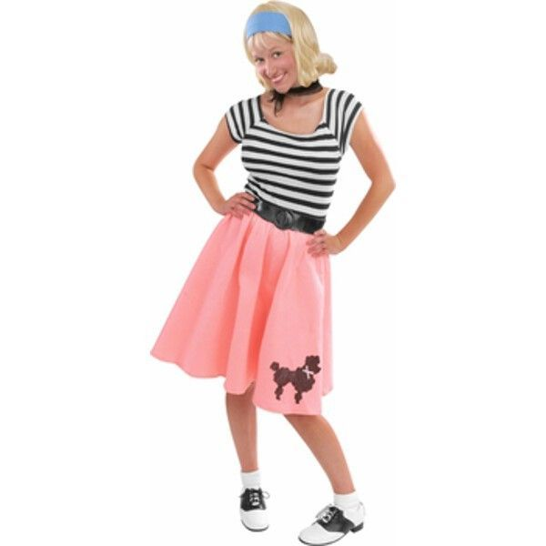 Adult Pink Felt Poodle Skirt