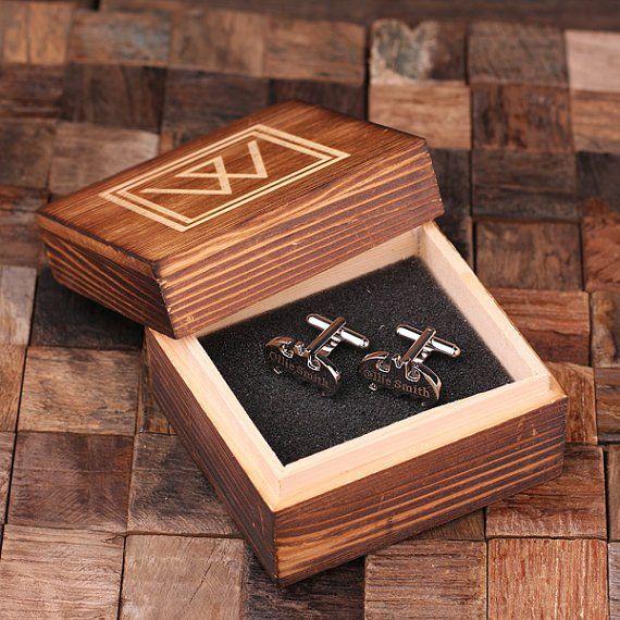Set of 5 Engraved Cuff Links – Batman