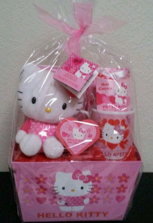 Hello Kitty Large Valentine S Gift Basket My Hello Kitty
