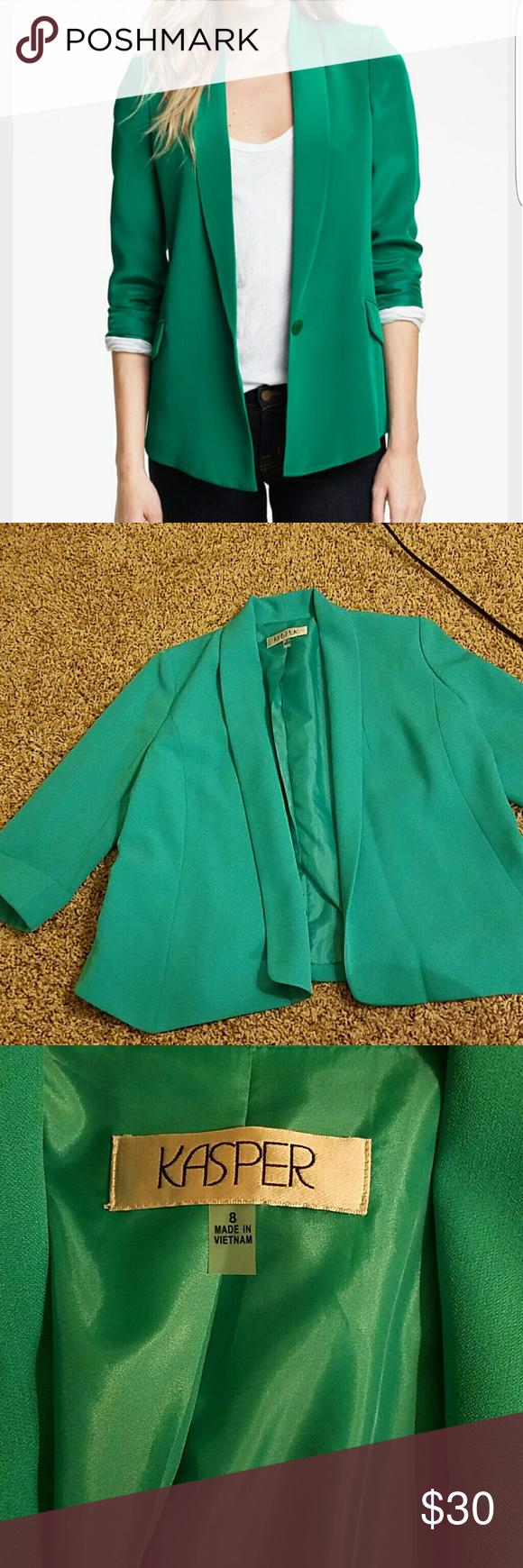 Versatile blazer new!!! Versatile and beautiful blazer.... excellent for the holidays!!! Kasper Jackets & Coats