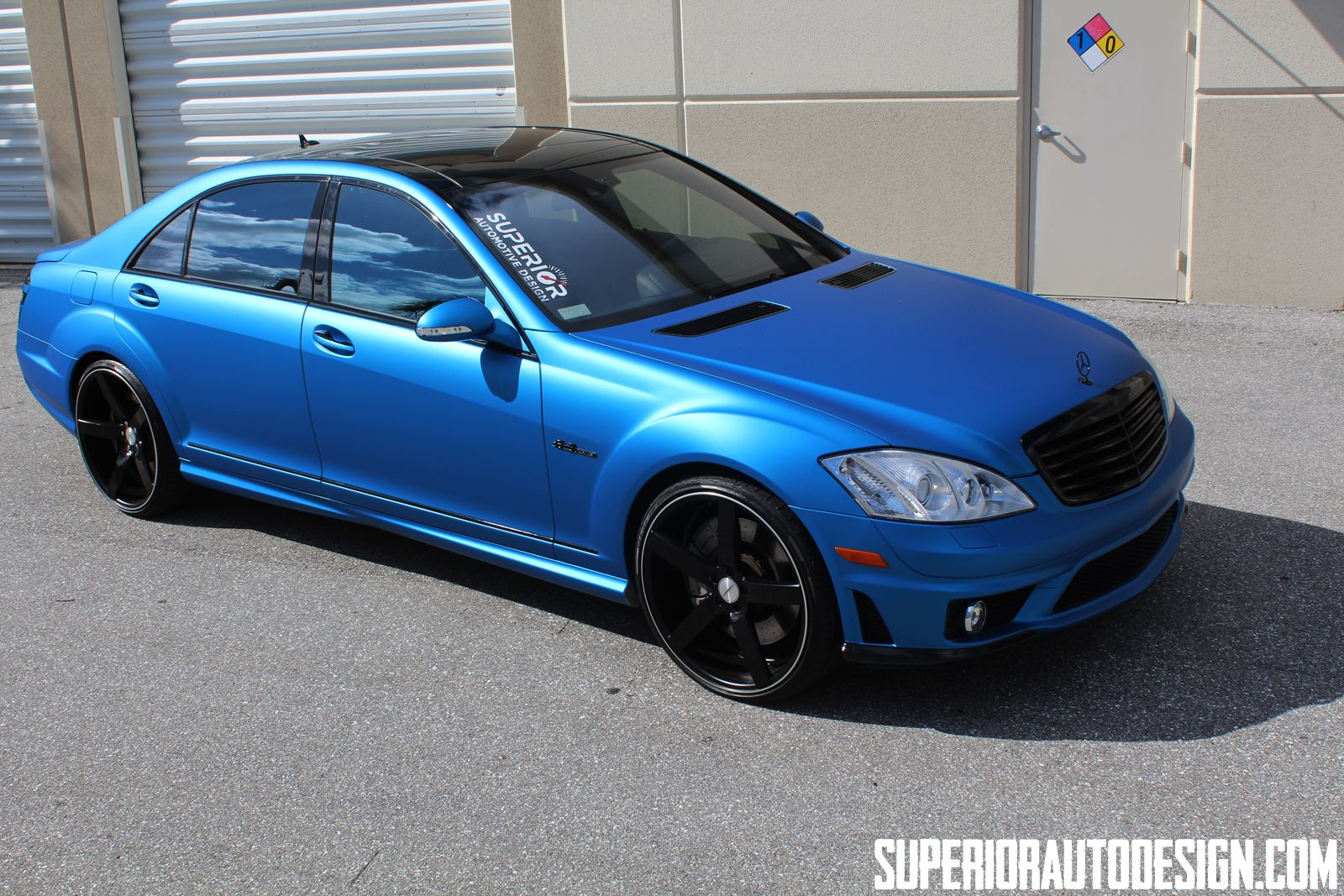 2008 mercedes benz s63 amg wrapped by superior auto design for Matte mercedes benz