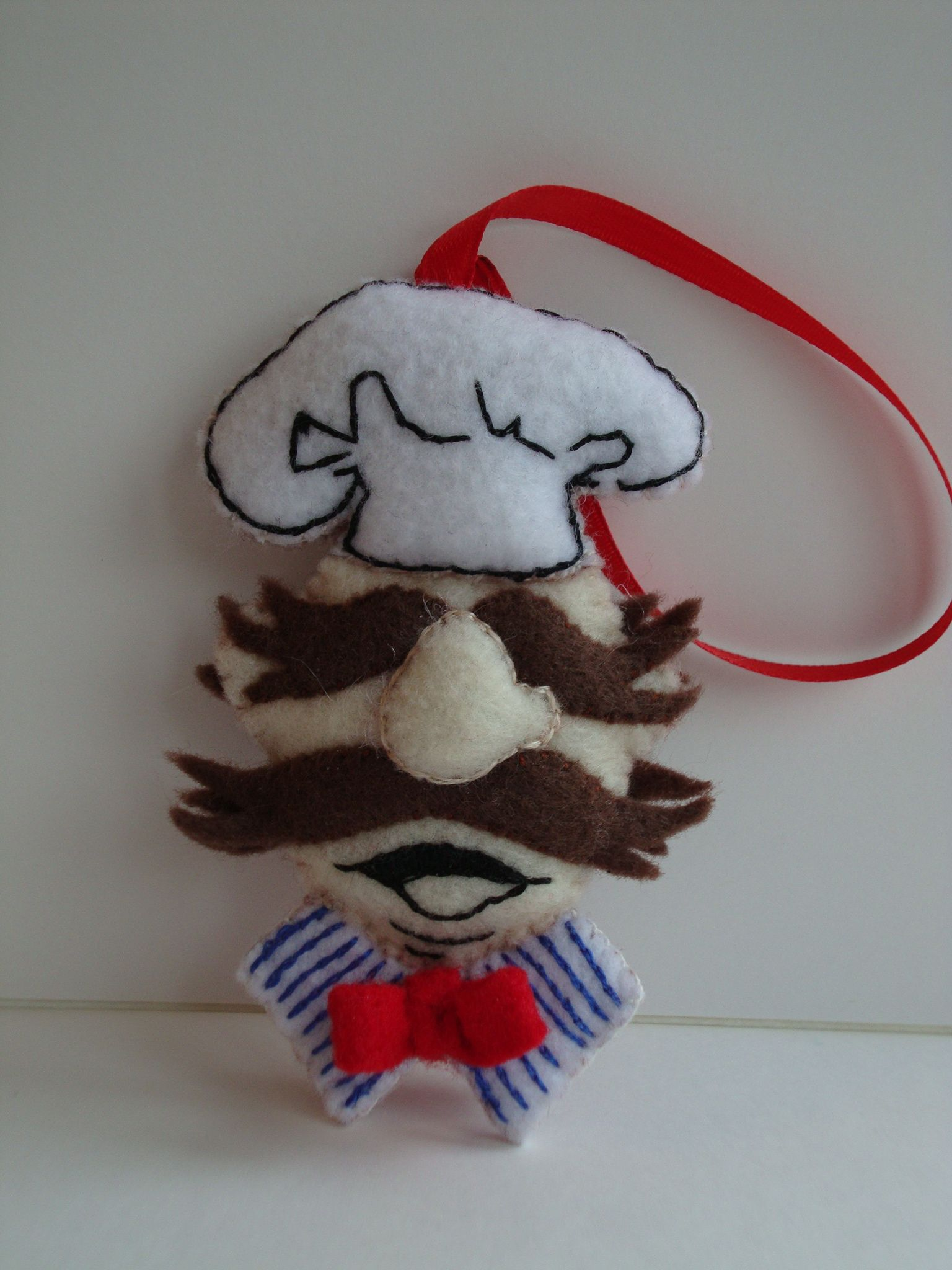 the muppets swedish chef hand made felt ornament lexifeltique