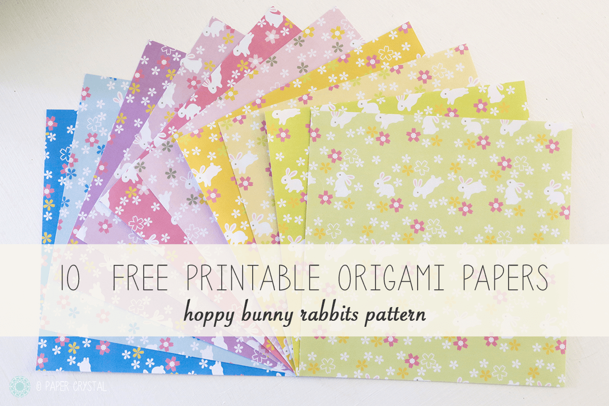 graphic regarding Origami Paper Printable known as 10 Free of charge Printable Bunny Rabbit Origami Papers Origami